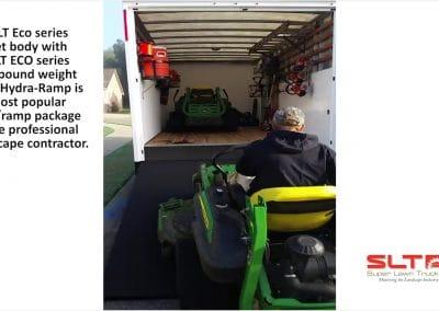 Loading John Deere Mowers with the SLT Eco Series Hydra-Ramp